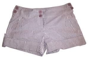 Mimi Chica Shorts Gray and White Stripe