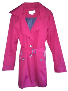 MICHAEL Michael Kors Hooded Single Breasted Removable Liner Trench Coat