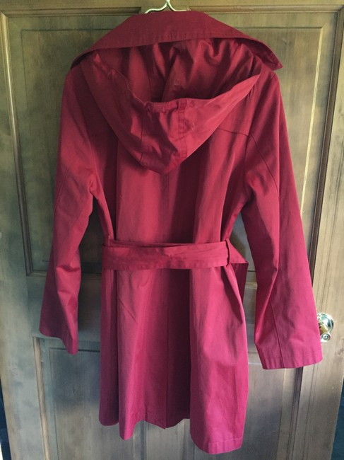 MICHAEL Michael Kors Trench Hooded Single Breasted Removable Liner Trench Coat