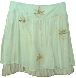 Les Filles Skirt light green, white, pink, green, gold