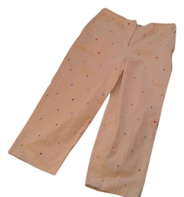 Briggs Embroidered Capris white