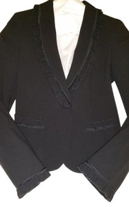 DKNY Black ruffle jacket