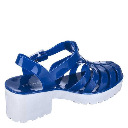 Bamboo Blue/White Sandals