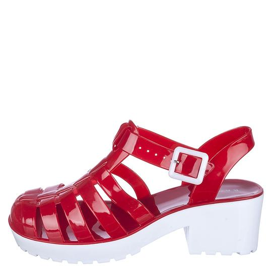 Bamboo Red/White Sandals
