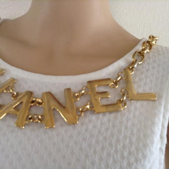 Chanel RARE VINTAGE CHANEL '94P LOGO NECKLACE