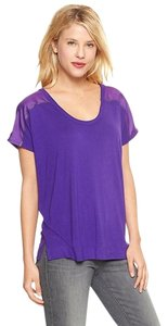 Gap Metallic T Shirt Purple