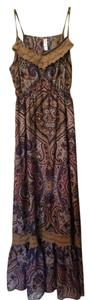 Brown Patterned Maxi Dress by Xhilaration
