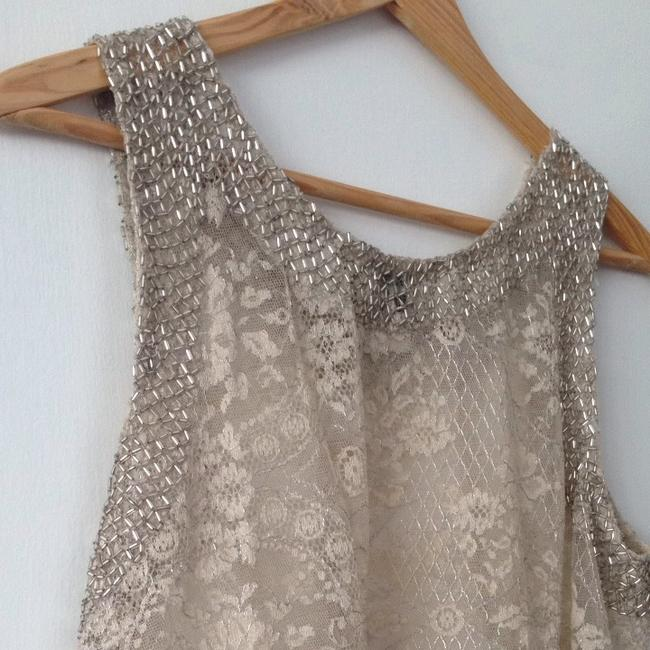 Haute Hippie Lace Beaded Top Ivory