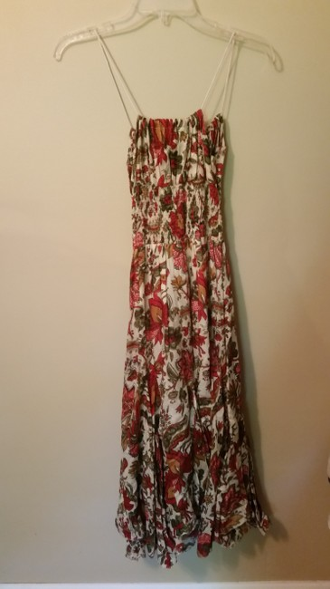 Other short dress Beige and Red Foral on Tradesy