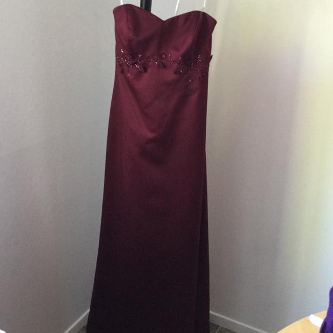 David's Bridal Strapless Train Maid Prom Holiday Cruise Evening Gown Embroidered Flowers Roses Petals Beads Sequins Dress