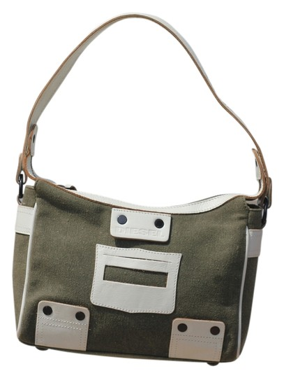 Preload https://img-static.tradesy.com/item/4161532/diesel-with-leather-trim-good-condition-with-dust-green-and-ivoru-shoulder-bag-0-0-540-540.jpg