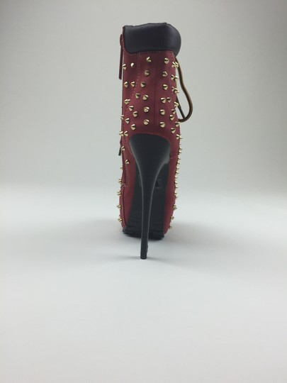 Other Heels Gold Red Boots Image 3