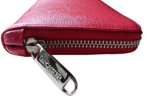 Lancaster Lancaster Safiano Leather Zipped Wallet with Diamonds