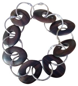 Dover Street Market Carved Wood Statement Necklace