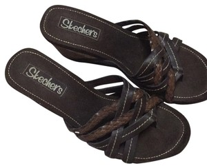 Skechers Dark brown Wedges
