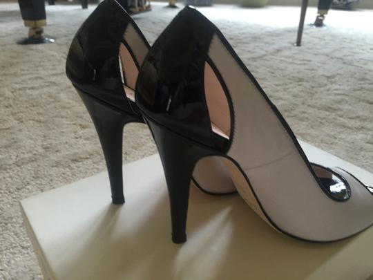 LEA-GU, Prodotto in Italia 4.5 Inch Heels Ivory and Black Sandals
