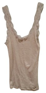 Hollister Scoop Neck Lace Small Top Cream