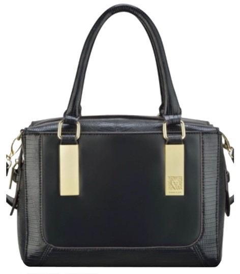 Preload https://item5.tradesy.com/images/anne-klein-bar-it-all-solid-black-faux-leather-satchel-4162849-0-0.jpg?width=440&height=440