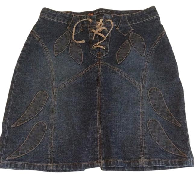 PARASUCO Fun Patchwork Fitted Skirt Denim