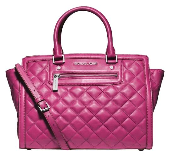 Preload https://item3.tradesy.com/images/michael-kors-selma-large-top-deep-pink-quilted-leather-satchel-4162987-0-0.jpg?width=440&height=440