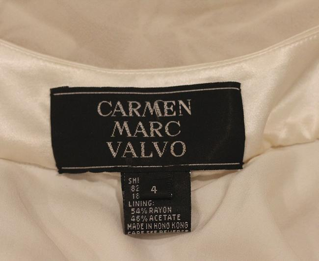 Carmen Marc Valvo Long Evening Bride Dress
