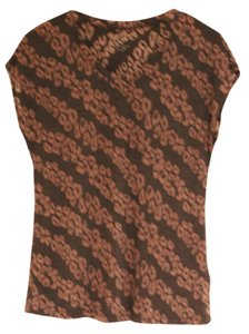 New Directions Shirt Summer T Shirt brown and taupe