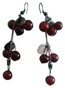 Other Cherry beaded dangle earrings