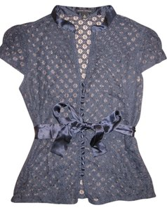 Banana Republic Top Navy Lace
