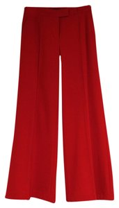 Moda International Flair Wide Leg Pants Red