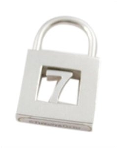 "Tiffany & Co. Tiffany & Co. ""7"" Padlock Lock Charm Pendant"