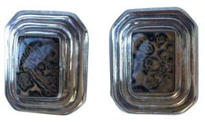 Other Sterling Silver Mexican Brown Black Clip On Earrings