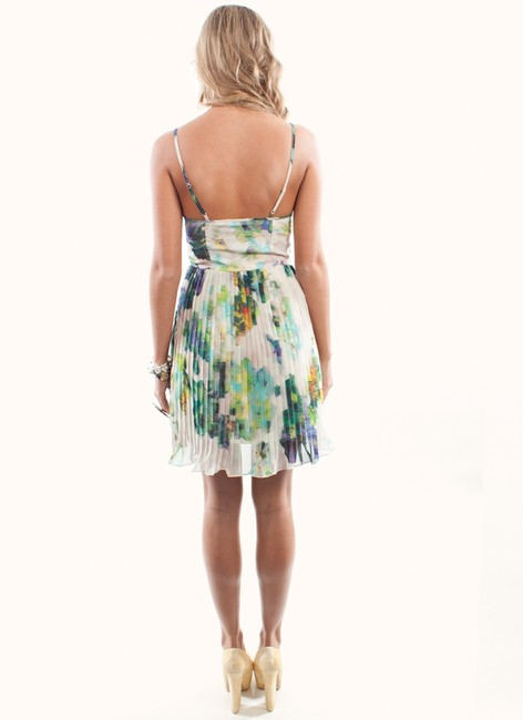BB Dakota short dress Blue Floral on Tradesy