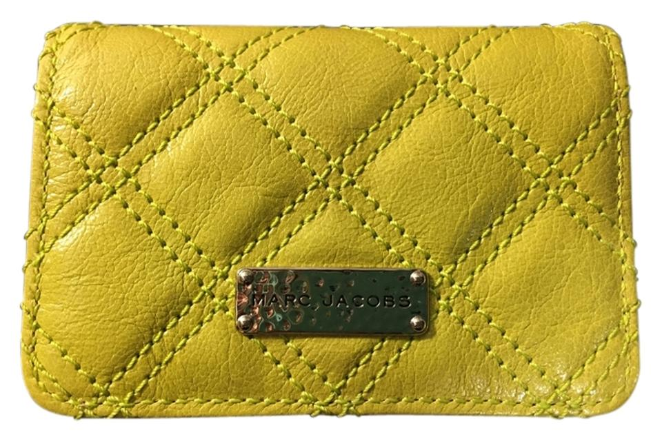 Marc jacobs green quilted leather business card holder wallet tradesy marc jacobs marc jacobs quilted green leather business card holder colourmoves