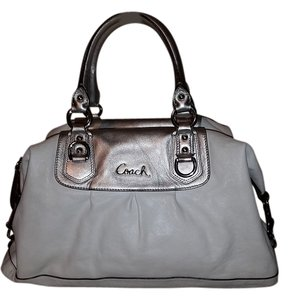 Coach Satchel in White and silver