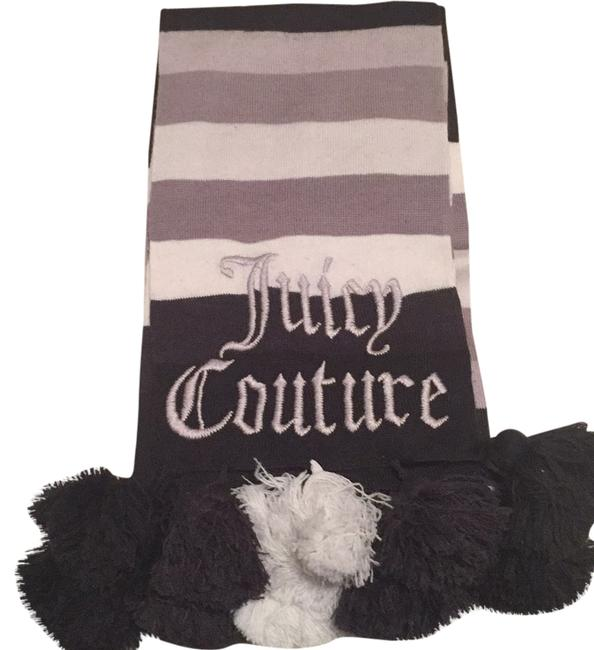 Juicy Couture Grey and Black Scarf/Wrap Juicy Couture Grey and Black Scarf/Wrap Image 1