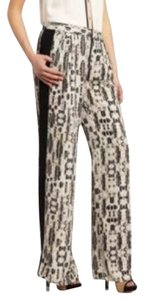 BCBGMAXAZRIA Trouser Pants Black/White Combo