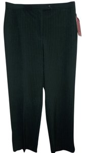 JM Collection Dress Trouser Pants Black Pin Stripe