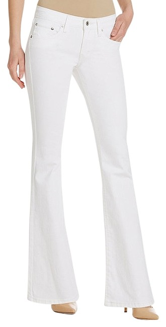 Item - White Distressed Nwot Women's Low Rise 3). Boot Cut Jeans Size 27 (4, S)