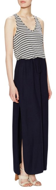 Navy blue and gray Maxi Dress by Atwell