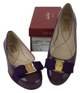 NIB Salvatore Ferragamo Purple Flats