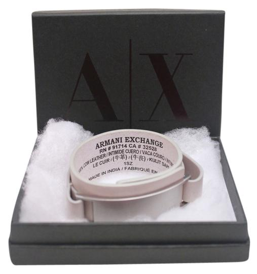 Preload https://img-static.tradesy.com/item/4165933/ax-armani-exchange-grey-metal-plate-leather-cuff-0-0-540-540.jpg