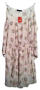 Love Culture short dress Taupe Open Shoulder Bohemian Boho Floral Flowy on Tradesy
