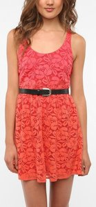 Urban Outfitters short dress Red/orange on Tradesy