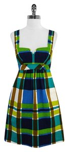Trina Turk short dress Plaid Cotton Blend on Tradesy