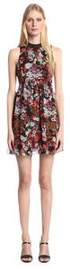 BCBGeneration short dress Black floral on Tradesy