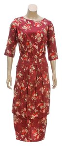 Pamela Barish short dress Burgundy on Tradesy