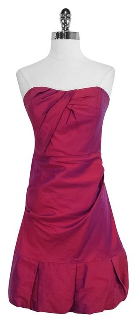 Preload https://item2.tradesy.com/images/nicole-miller-magenta-duochrome-silk-strapless-mid-length-short-casual-dress-size-8-m-4166341-0-0.jpg?width=400&height=650