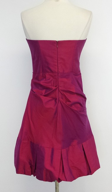 Nicole Miller short dress Duochrome Silk Strapless on Tradesy