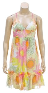 MILLY short dress Yellow Multicolor on Tradesy