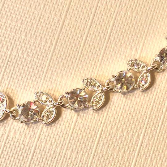Other Silver and Crystal Costume Necklace